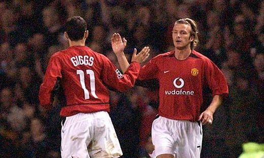 Ryan Giggs and David Beckham