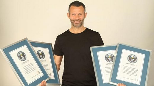 Ryan Giggs scored 4 Guinness World Records