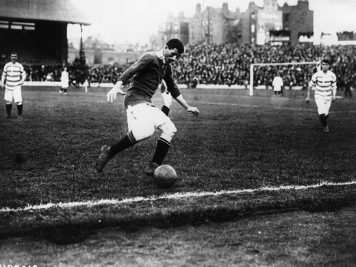 Billy Meredith, one of United's first great footballers.