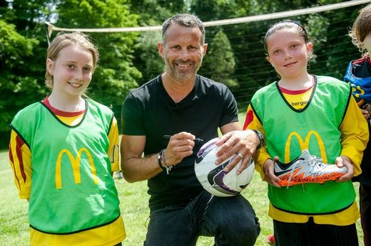 Giggs was at Mumbles Rangers to for the McDonalds BetterPlay grassroot football