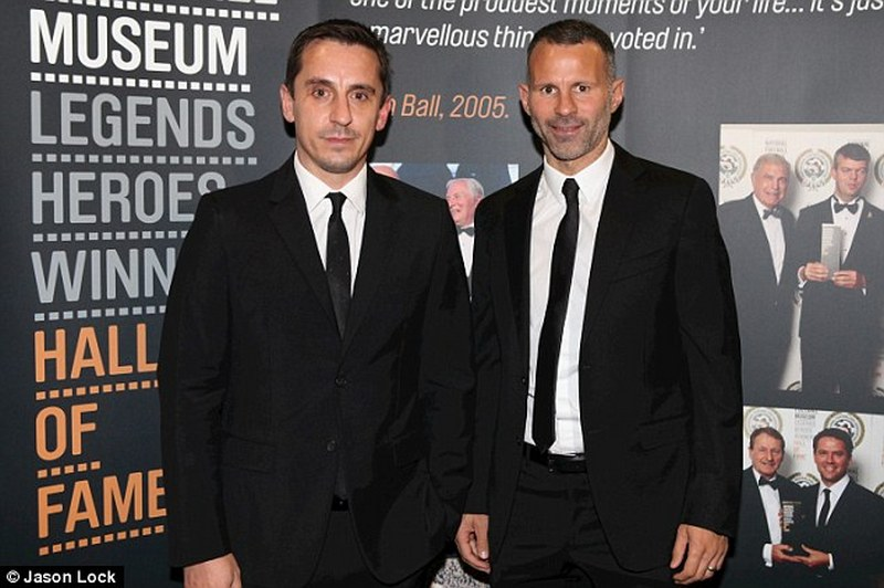 Neville and Giggs were inducted into the National Football Museum Hall of Fame