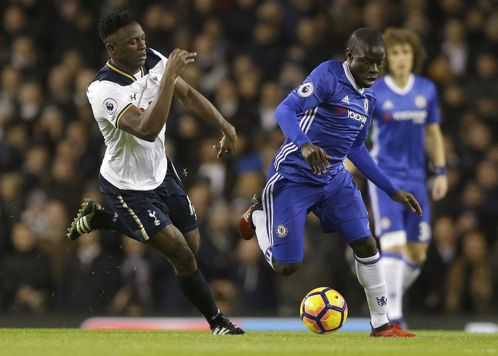 N'Golo Kante has been a star performer for Chelsea. CREDIT: AP
