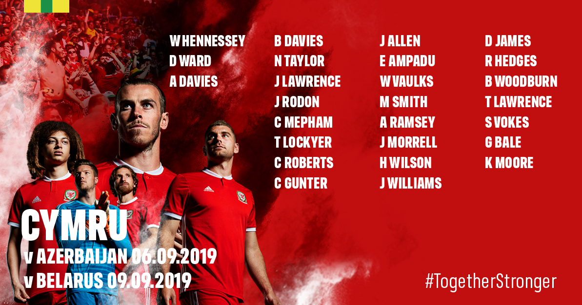 Giggs names 26 players in Cymru Squad