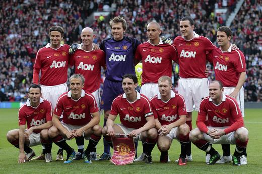 ... as his testimonial match revived fond memories of the Class of 92